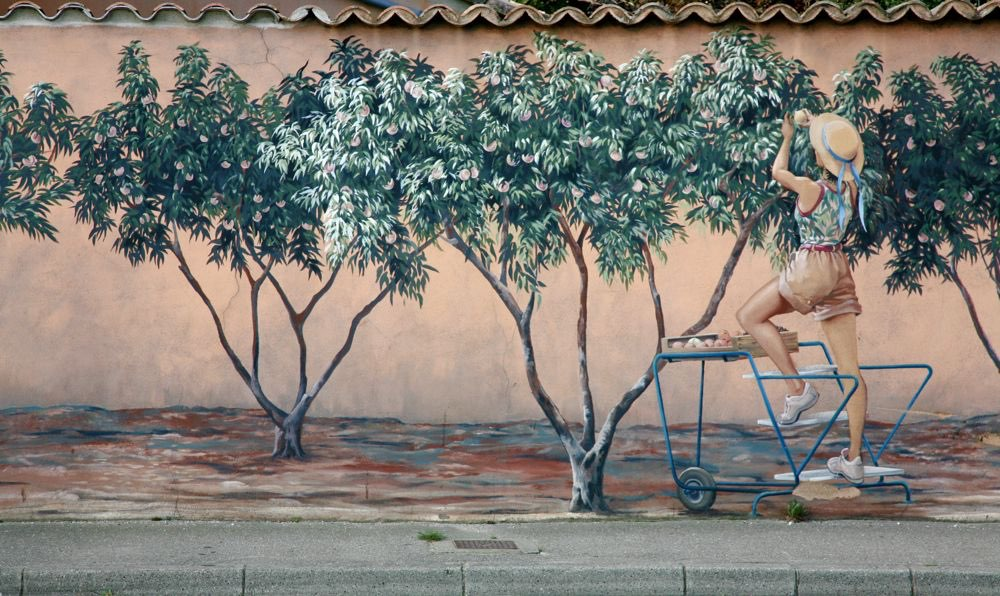 3D Wall painting at a village in France version 3